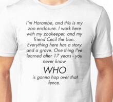 I'm Rick Harrison and this is my son, Harambe. Unisex T-Shirt