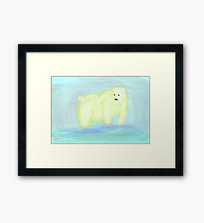 In the Glacier Framed Print