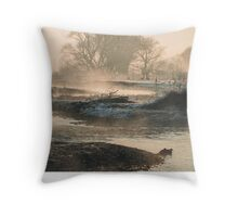 In To The Mystery - Sunrise At White Rock Throw Pillow