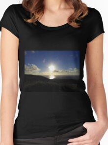 Leaving Horn Head.............................Donegal Women's Fitted Scoop T-Shirt