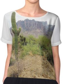 Superstitious Cactus Chiffon Top