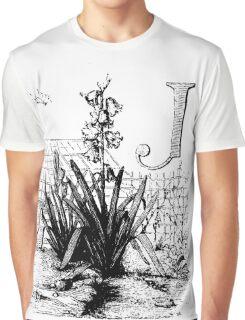 Garden Alphabet Letter J Graphic T-Shirt