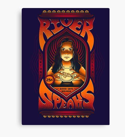 River Speaks Canvas Print