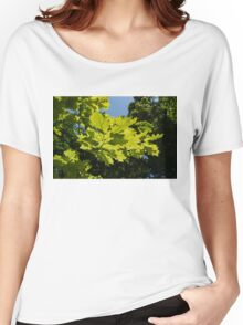 More Than Fifty Shades Of Green - Sunlit Oak and Linden Patterns - Up Right Women's Relaxed Fit T-Shirt