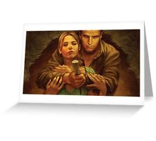 Buffy and Angel Greeting Card