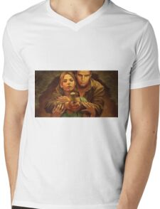 Buffy and Angel Mens V-Neck T-Shirt