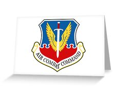 AF Air Combat Command Greeting Card