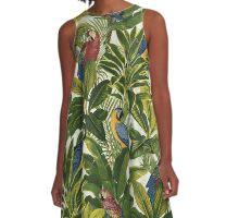 Parrots A-Line Dress