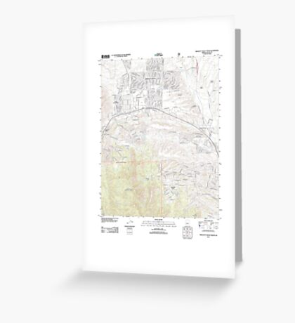 USGS TOPO Map Arizona AZ Prescott Valley South 20120518 TM Greeting Card