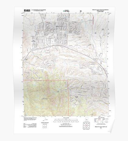 USGS TOPO Map Arizona AZ Prescott Valley South 20120518 TM Poster