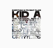 Radiohead Kid A Song Titles Unisex T-Shirt