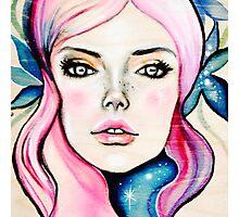 Cosmic Girl Photographic Print
