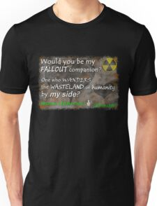Would You Be My Wasteland Companion? Fallout Gamer Valentine Unisex T-Shirt