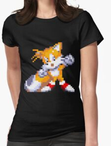 """Miles """"Tails"""" Prower Womens Fitted T-Shirt"""