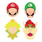 Super Mario Characters by MoleFole