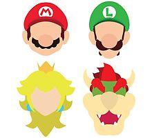 Super Mario Characters by MoleFole
