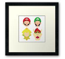 Super Mario Characters Framed Print