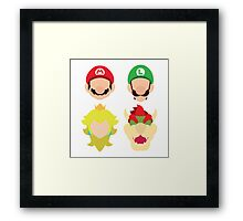 Super Mario Characters Framed Print