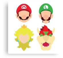 Super Mario Characters Canvas Print