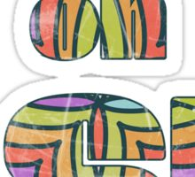 Retro Cool Party Psychedelic LSD Design  Sticker
