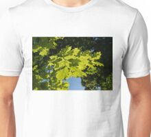 More Than Fifty Shades Of Green - Sunlit Oak and Linden Patterns - Down Right Unisex T-Shirt