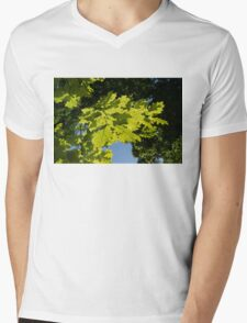 More Than Fifty Shades Of Green - Sunlit Oak and Linden Patterns - Down Right Mens V-Neck T-Shirt