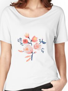 Blush Rose Floral Women's Relaxed Fit T-Shirt