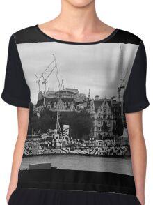 Navel ship on the Thames Chiffon Top