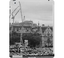 Navel ship on the Thames iPad Case/Skin