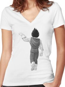 "Vegeta, best friend (To buy in combo with ""Goku, best friend"") Women's Fitted V-Neck T-Shirt"