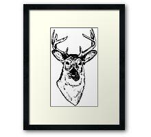 9 Point Deer Framed Print