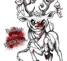 Rudolph The REDRUM Reindeer by DevineArt