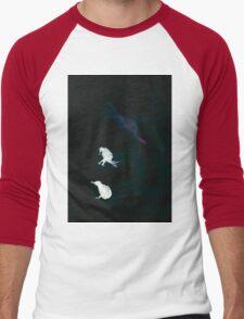 WDV - 595 - Flightless Freedom Men's Baseball ¾ T-Shirt