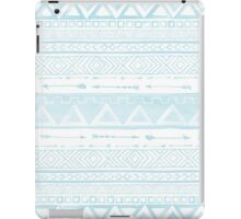 Tribal,Ikat,pale blue,white,painting,water color,country,boho, iPad Case/Skin