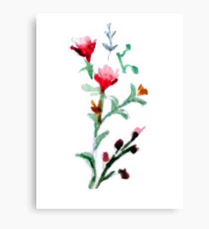 Watercolor Floral Canvas Print