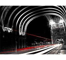 Light Trails on London Bridge Photographic Print