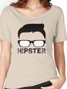 Cool Retro Hipster Glasses Design Women's Relaxed Fit T-Shirt