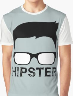 Cool Retro Hipster Glasses Design Graphic T-Shirt