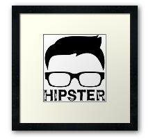 Cool Retro Hipster Glasses Design Framed Print