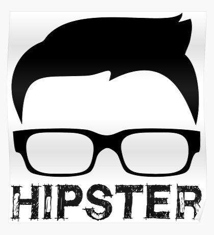 Cool Retro Hipster Glasses Design Poster
