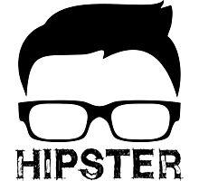 Cool Retro Hipster Glasses Design Photographic Print
