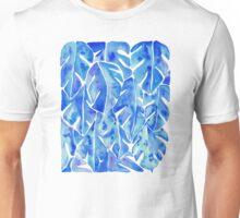 Split Leaf Philodendron – Blue Unisex T-Shirt