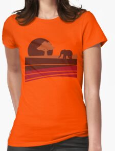 African sunset Womens Fitted T-Shirt