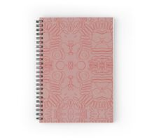 Abstract Blood Cells Spiral Notebook
