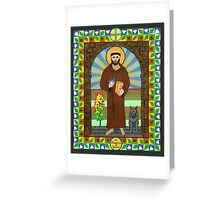 Icon of St. Francis of Assissi  Greeting Card