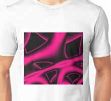 Burgundy Shapes and Curves Unisex T-Shirt