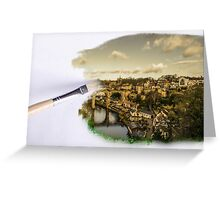 Painted Cityscape Greeting Card