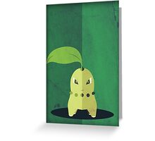 Pokemon - Chikorita #152 Greeting Card