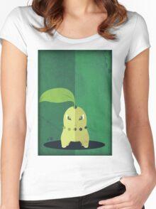 Pokemon - Chikorita #152 Women's Fitted Scoop T-Shirt