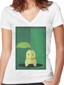Pokemon - Chikorita #152 Women's Fitted V-Neck T-Shirt